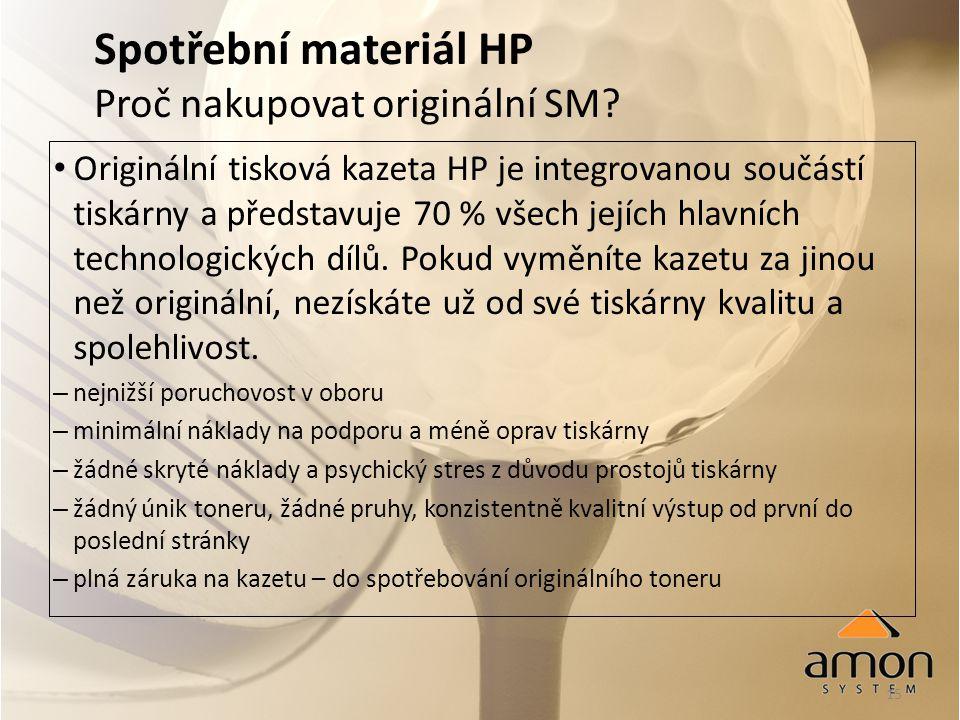 15 Spotřební materiál HP Proč nakupovat originální SM.