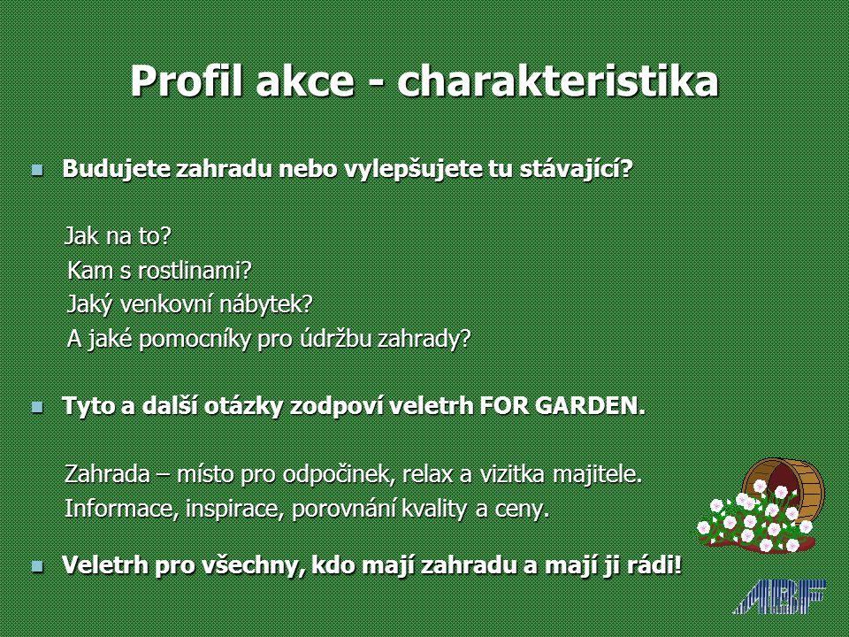 Profil akce - charakteristika Budujete zahradu nebo vylepšujete tu stávající.