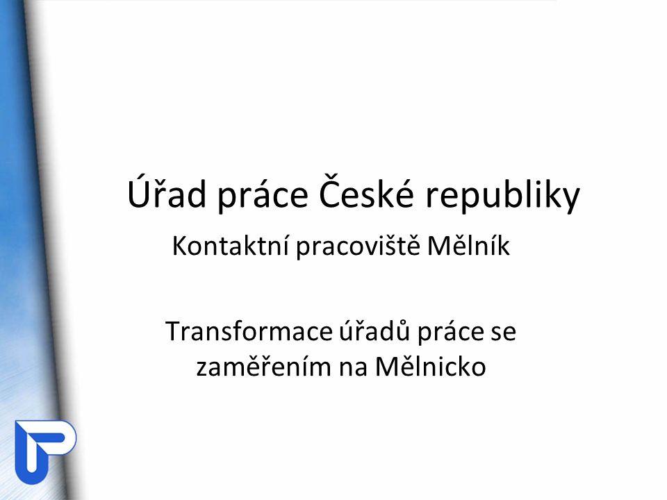 Úřad práce České republiky Kontaktní pracoviště Mělník Transformace úřadů práce se zaměřením na Mělnicko