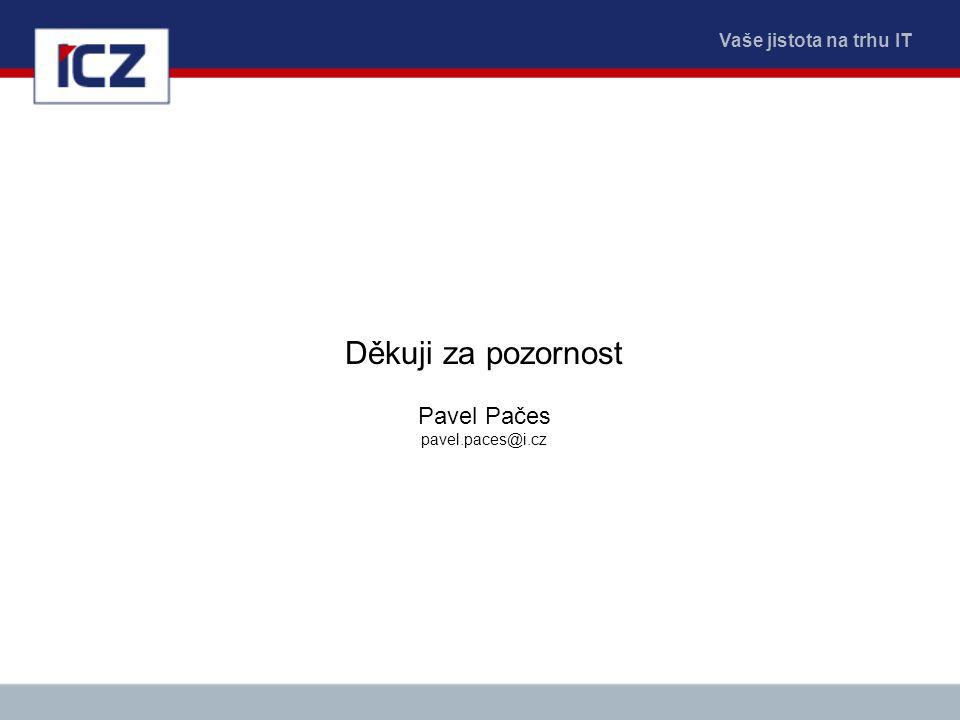 Vaše jistota na trhu IT Děkuji za pozornost Pavel Pačes pavel.paces@i.cz
