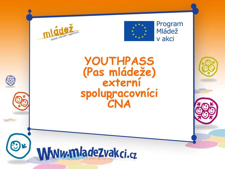 YOUTHPASS (Pas mládeže) externí spolupracovníci ČNA