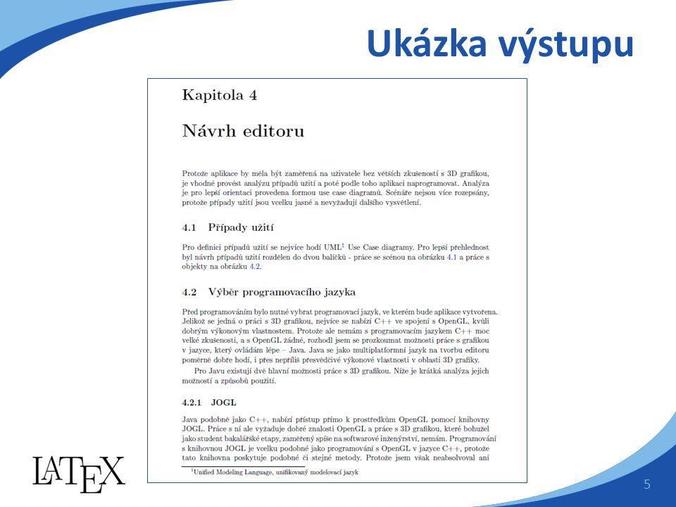 Výhody LaTeXu  Profesionálně vytvořené formáty  Podpora sazby vzorců  Je to zdarma  Pracuje pod všemi operačními systémy  Možnost rozdělení dlouhého textu  Odolnost souborů 6