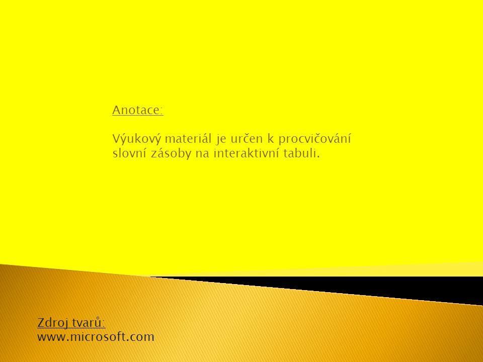Anotace: Výukový materiál slouží k procvičování slovního spojení čísel, barev a podstatných jmen.