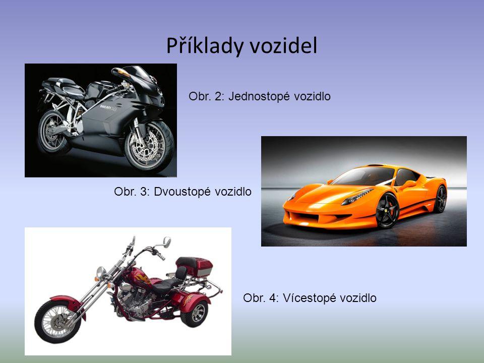 Příklady vozidel Obr. 3: Dvoustopé vozidlo Obr. 4: Vícestopé vozidlo Obr. 2: Jednostopé vozidlo