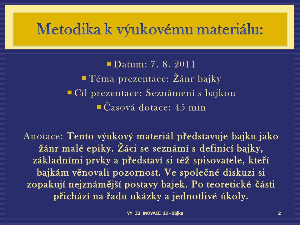 VY_32_INOVACE_19 - Bajka 2