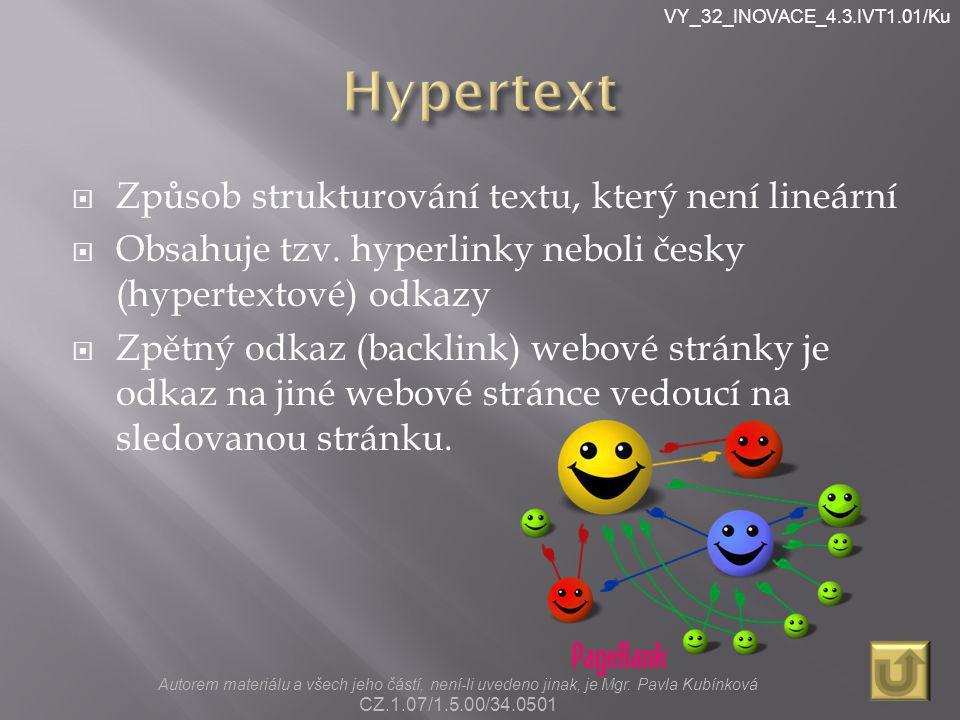 VY_32_INOVACE_4.3.IVT1.01/Ku HYPERTEXT A.
