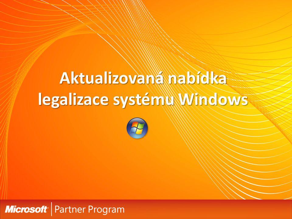 Změna legalizace systému Windows Ukončení volného prodeje COEM licence Windows k 31.