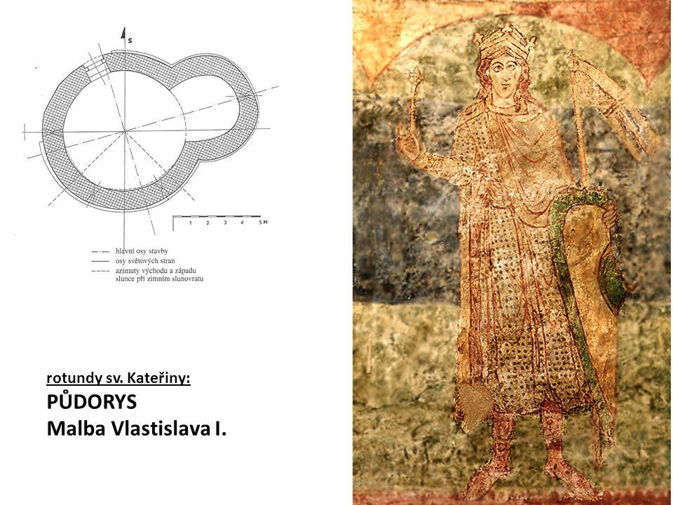rotundy sv. Kateřiny: PŮDORYS Malba Vlastislava I.