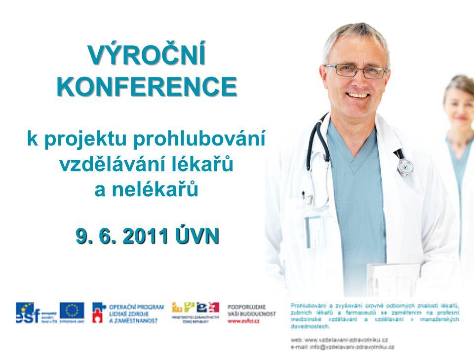 VÝROČNÍ KONFERENCE VÝROČNÍ KONFERENCE k projektu prohlubování vzdělávání lékařů a nelékařů 9.