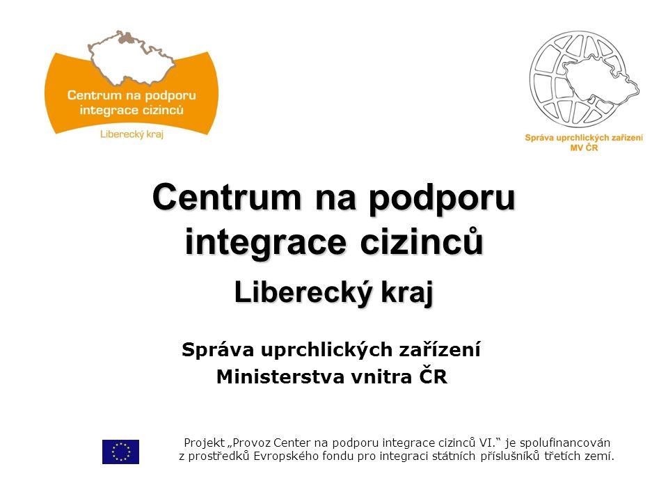 """Projekt """"Provoz Center na podporu integrace cizinců VI. je spolufinancován z prostředků Evropského fondu pro integraci státních příslušníků třetích zemí."""