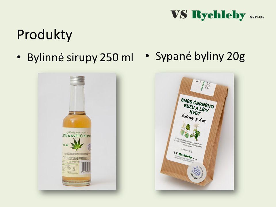 Bylinné sirupy 250 ml Produkty Sypané byliny 20g