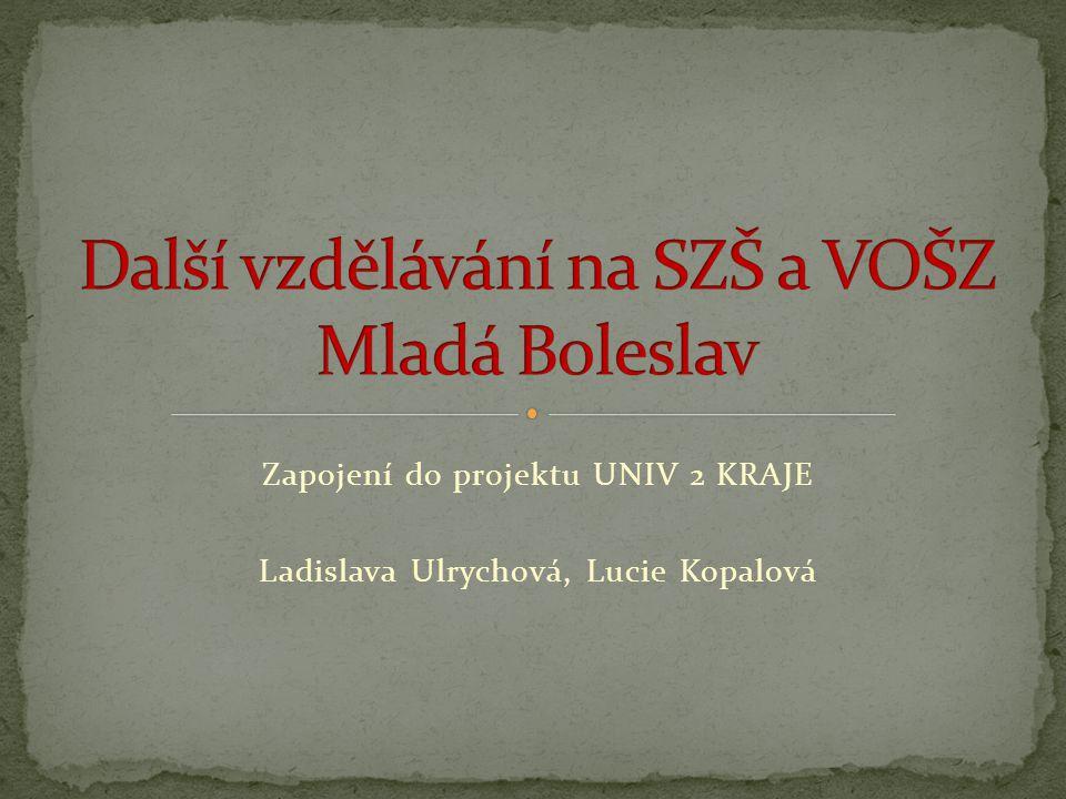 Zapojení do projektu UNIV 2 KRAJE Ladislava Ulrychová, Lucie Kopalová