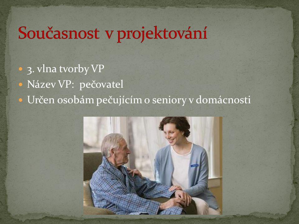 3. vlna tvorby VP Název VP: pečovatel Určen osobám pečujícím o seniory v domácnosti