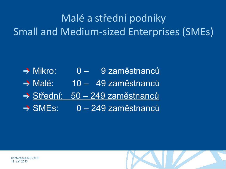 Konference INOVACE 19. září 2013 SMEs