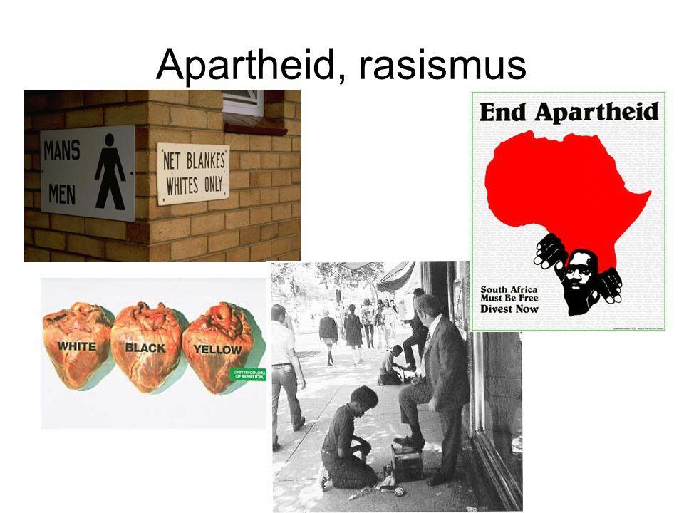 Apartheid, rasismus