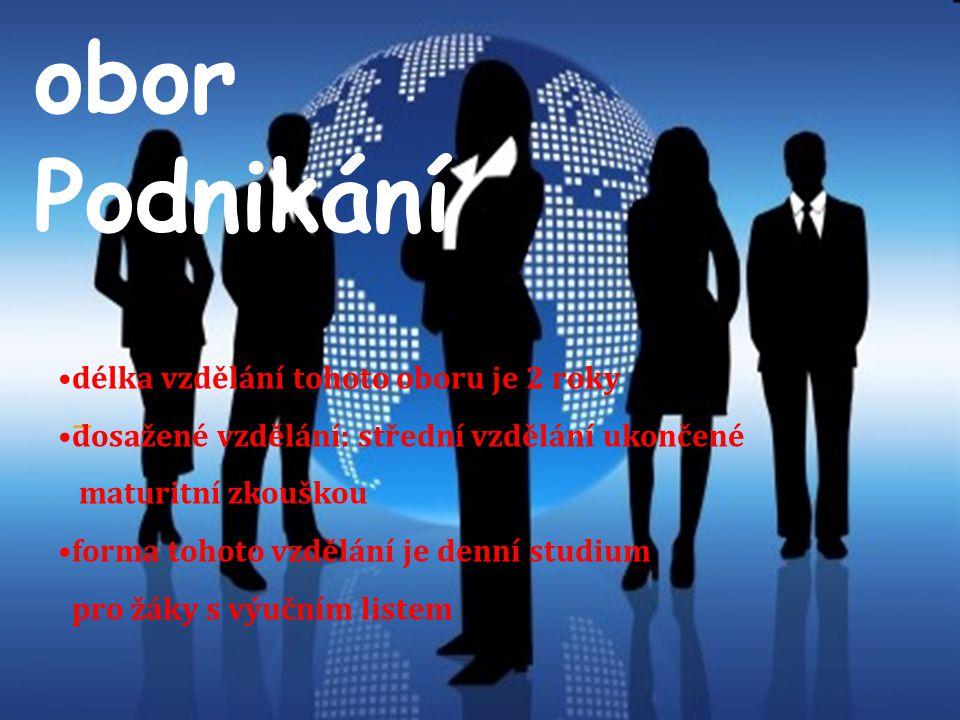 Obor je určen pro žáky a žákyně se zájmem o ekonomiku podniku, účetnictví, písemnou a elektronickou komunikaci, právo, management a marketing.