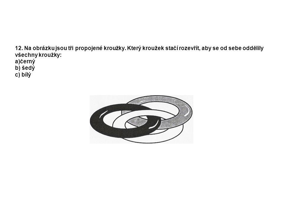12. Na obrázku jsou tři propojené kroužky.