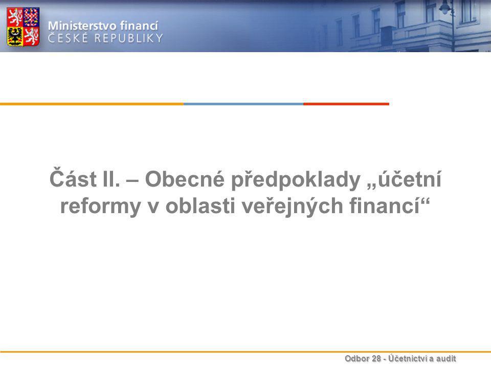 Odbor 28 - Účetnictví a audit Část II.