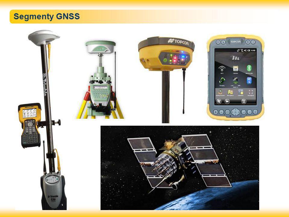 Vybrané systémy GNSS  GPS Navstar - Global Positioning System (USA) – vývoj 1973 až 1994  GLONNAS - Globalnaja navigacionnaja sputnikovaja sistěma (SSSR) – vývoj 1970 (1976) – přijat, od 1996 – 2011 úpadek, nyní obnova  Galileo – Evropský systém – vývoj 1999 až nyní, 2005 první družice, nyní 6 družic, systém není doposud funkční  Compass – Čínský systém – měl by mít 35 družic, není funkční  Další teritoriální systémy (Indie, Japonsko) v Evropě nemají význam Prvním systémem byl GPS NAVSTAR, další systémy se objevují vzhledem k obrovským finančním nárokům pomalu a obvykle se jedná spíše o dosažení strategické nezávislosti nežli o zlepšení kvality měření.