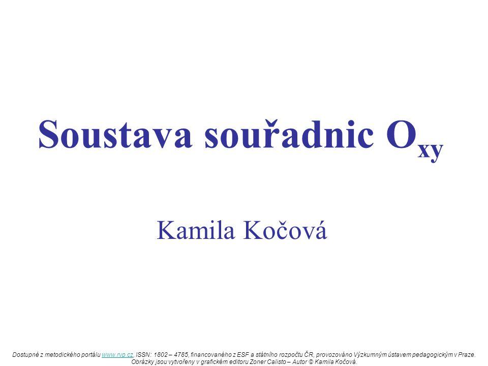 Soustava souřadnic O xy Kamila Kočová Dostupné z metodického portálu www.rvp.cz, ISSN: 1802 – 4785, financovaného z ESF a státního rozpočtu ČR, provoz