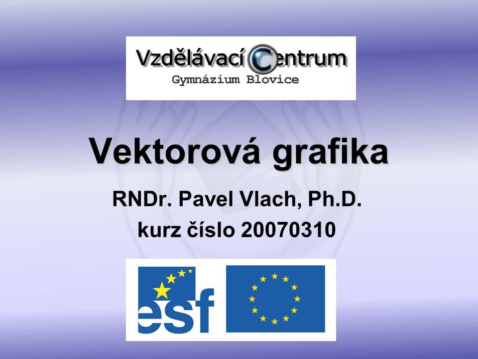 Vektorová grafika – obsah kurzu co to je vektorová grafika práce s vektorovými objekty 2D a 3D vektorové editory praktické příklady s manuálem a bez trasování bitmapové grafiky do vektorů