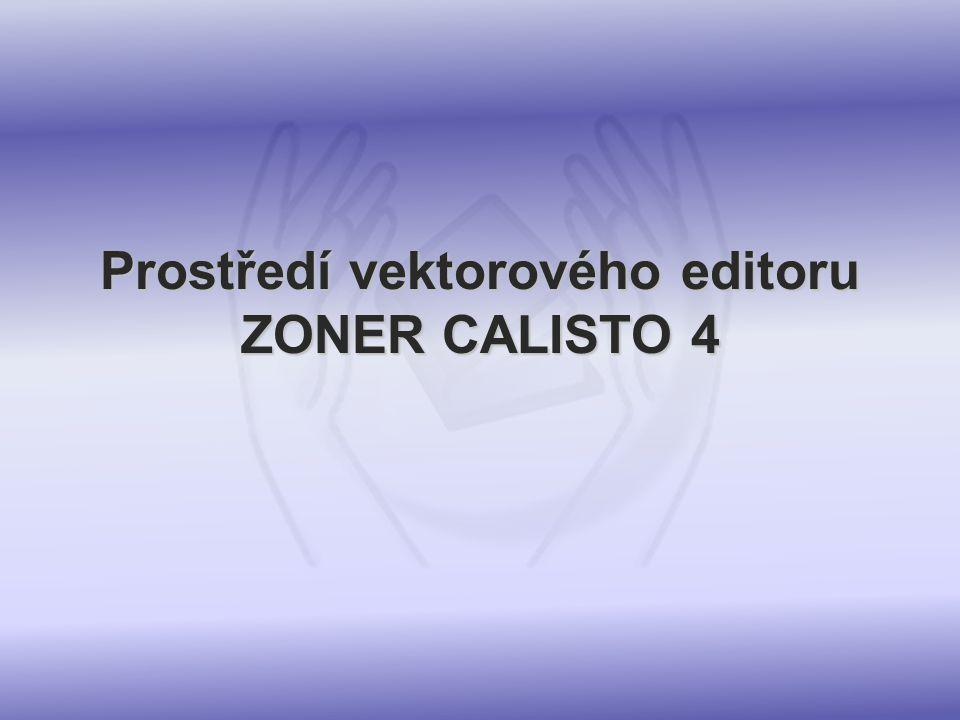 Prostředí vektorového editoru ZONER CALISTO 4