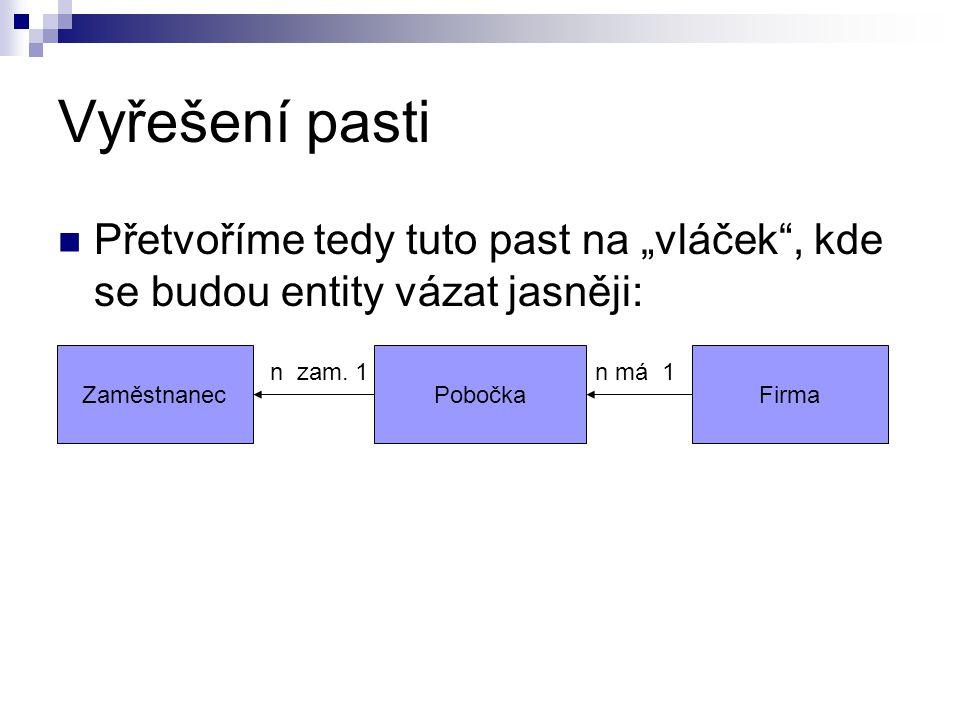 Druhá normální forma Zjistíme, zda jsou všechny atributy závislé na primárním klíči.
