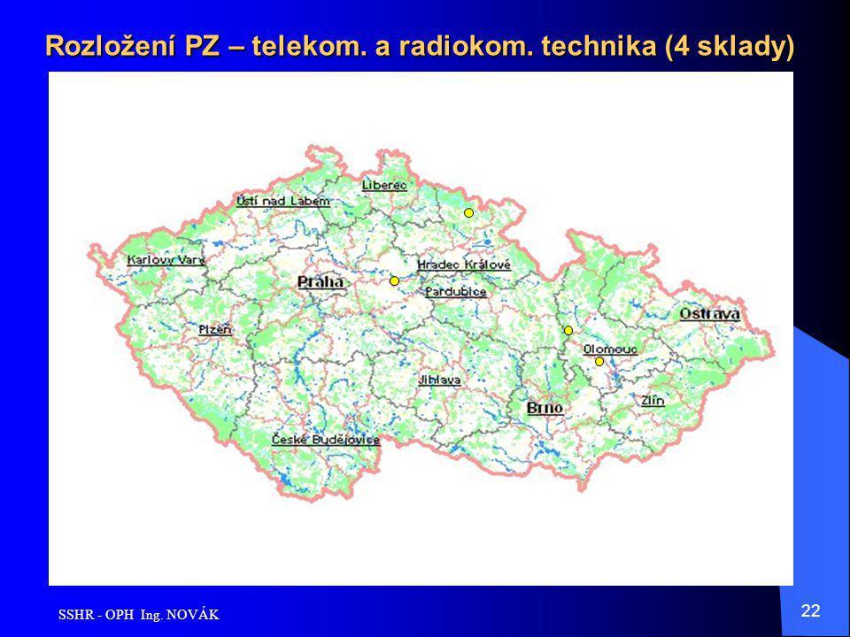 SSHR - OPH Ing. NOVÁK 22 Rozložení PZ – telekom. a radiokom. technika (4 sklady)