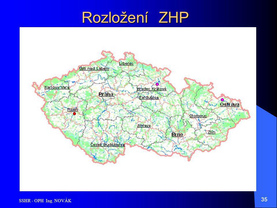 SSHR - OPH Ing. NOVÁK 35 Rozložení ZHP