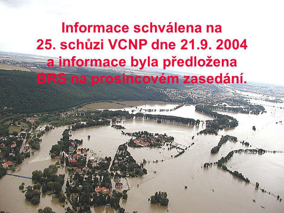 SSHR - OPH Ing. NOVÁK 5 Informace schválena na 25. schůzi VCNP dne 21.9. 2004 a informace byla předložena BRS na prosincovém zasedání.