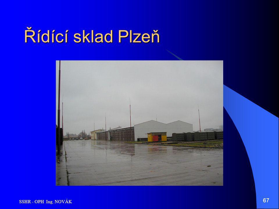 SSHR - OPH Ing. NOVÁK 67 Řídící sklad Plzeň