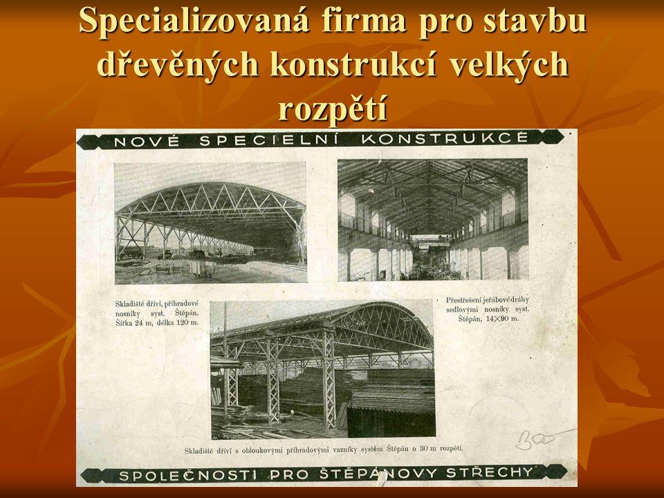 Specializovaná firma pro stavbu dřevěných konstrukcí velkých rozpětí