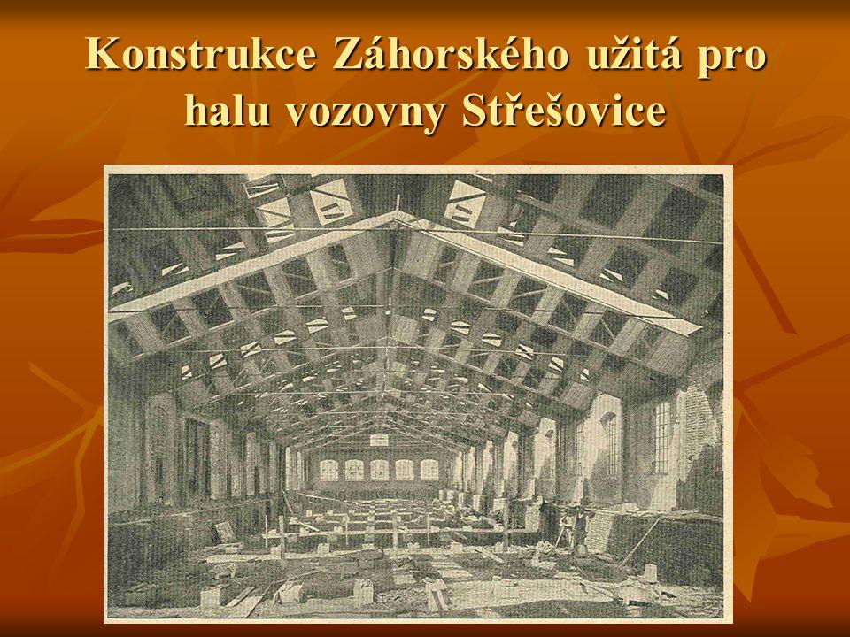 Konstrukce Záhorského užitá pro halu vozovny Střešovice