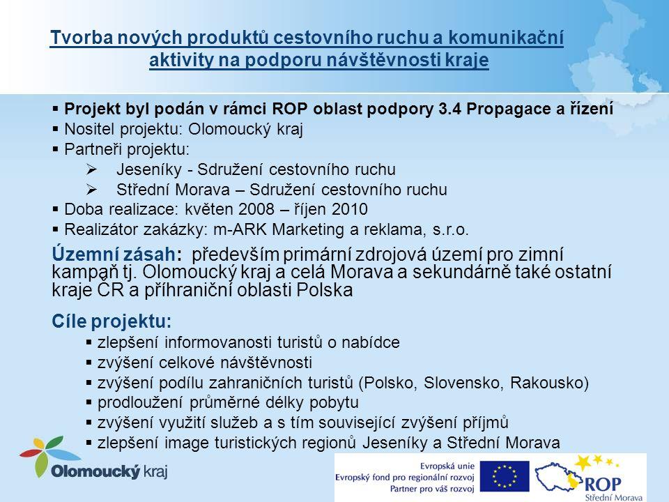 Financování projektu Celkové náklady: 29,1 mil.Kč Dotace EU (ROP): 24,735 mil.