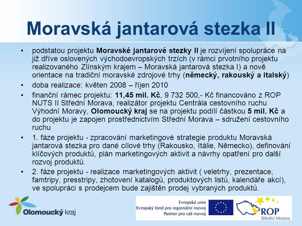 Společný projekt 4 moravských krajů dlouhodobá spolupráce již od roku 2005 v roce 2008 podpis tzv.