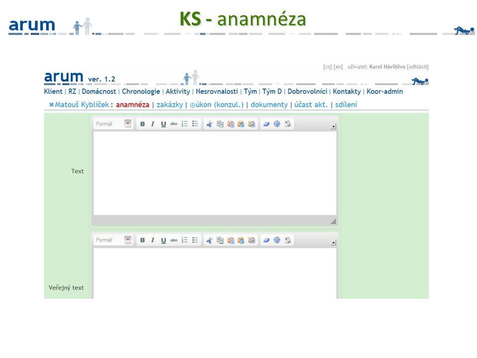 KS - anamnéza