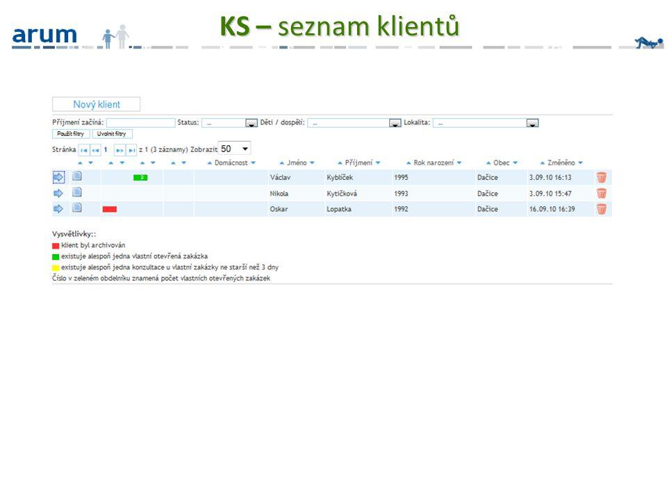 KS – seznam klientů