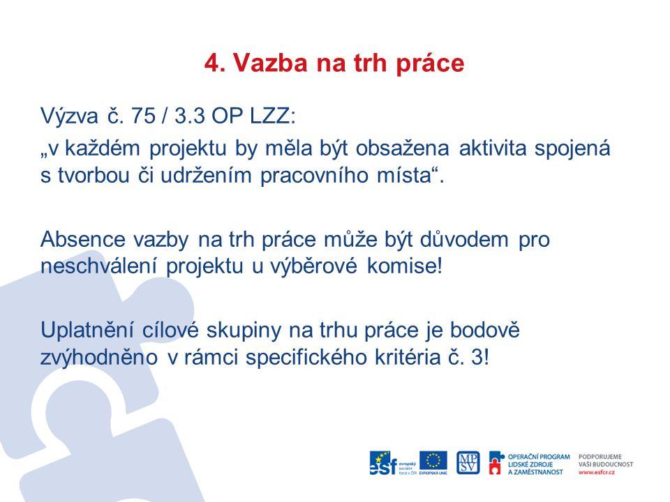 4. Vazba na trh práce Výzva č.