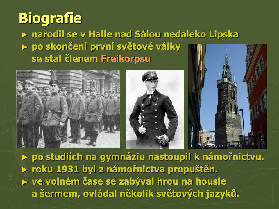 Biografie Biografie ► narodil se v Halle nad Sálou nedaleko Lipska ► po skončení první světové války se stal členem Freikorpsu ► po studiích na gymnáz