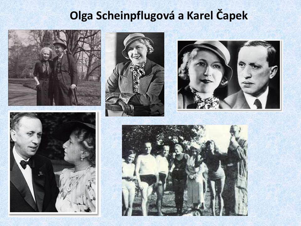 Olga Scheinpflugová a Karel Čapek