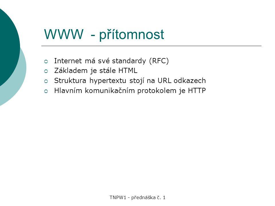 TNPW1 - přednáška č.