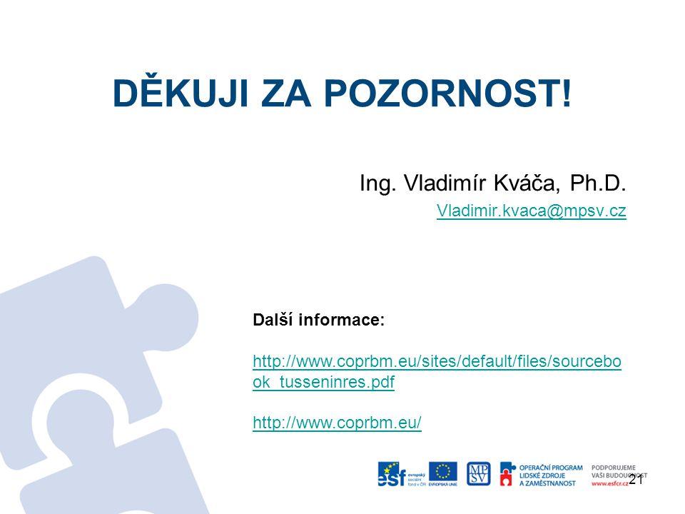 DĚKUJI ZA POZORNOST.Ing. Vladimír Kváča, Ph.D.