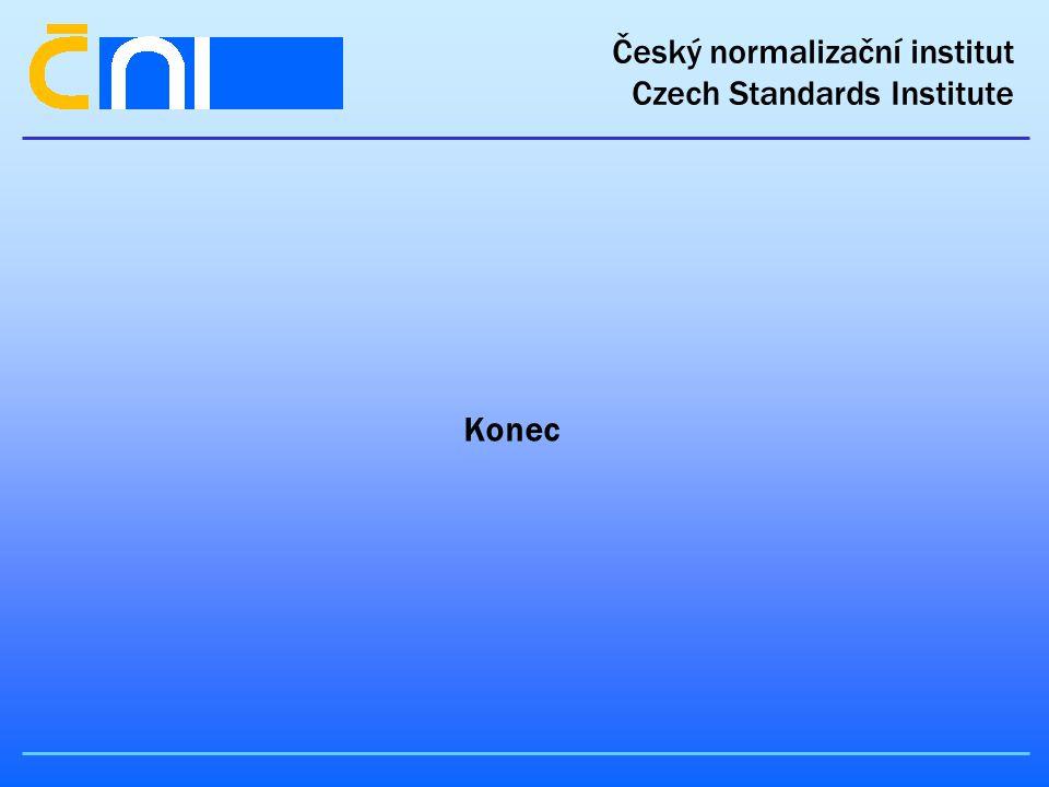 Český normalizační institut Czech Standards Institute Konec