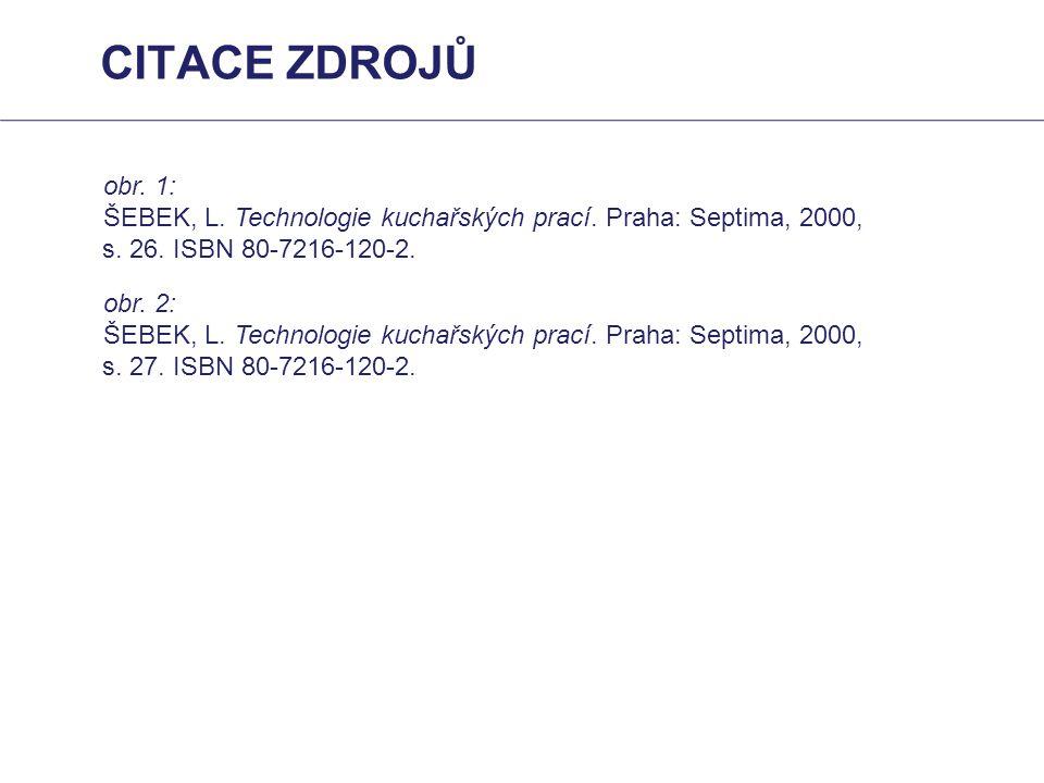 obr. 1: ŠEBEK, L. Technologie kuchařských prací. Praha: Septima, 2000, s. 26. ISBN 80-7216-120-2. obr. 2: ŠEBEK, L. Technologie kuchařských prací. Pra