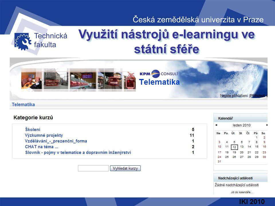 IKI 2010 Využití nástrojů e-learningu ve státní sféře