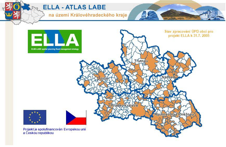 Stav zpracování ÚPD obcí pro projekt ELLA k 31.7.