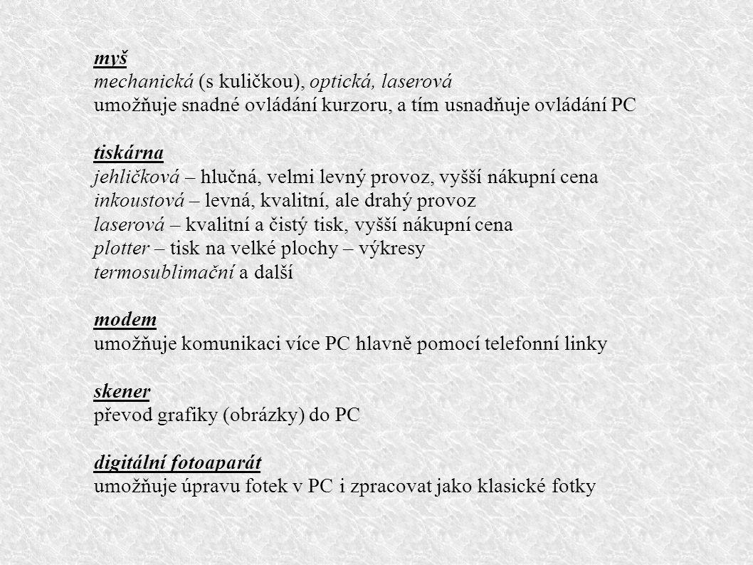 monitor rozdělujeme podle různých kategorií - dle principu zobrazení – CRT (klasický), LCD, plazmové, OLED...