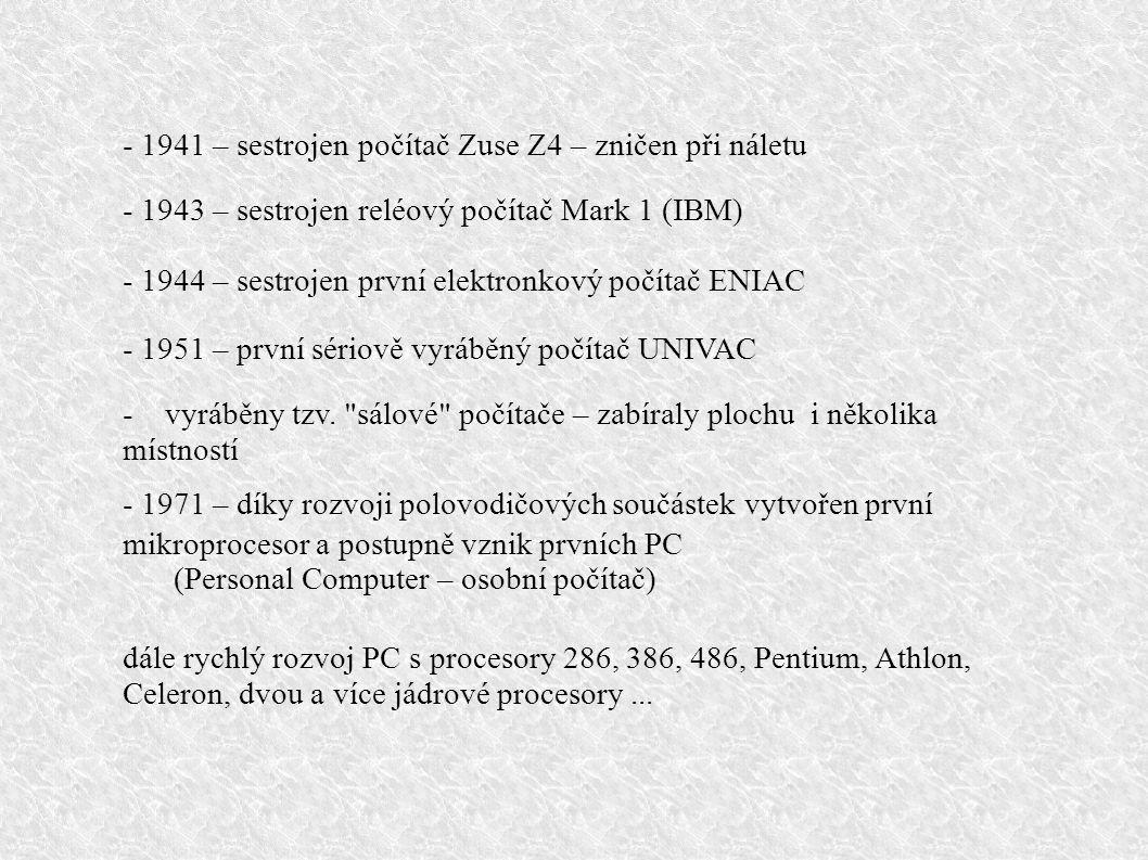 část I. Historie výpočetní techniky