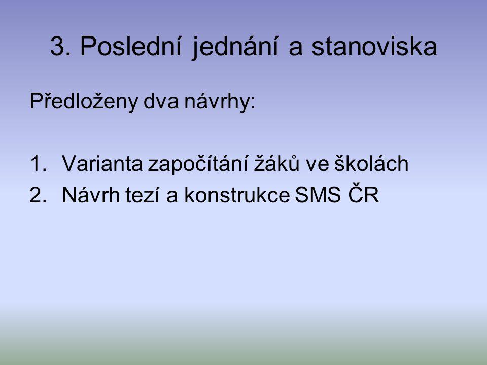 4.Návrh SMS ČR na konstrukci zákona 1. Zásadním dokumentem analýza 2.