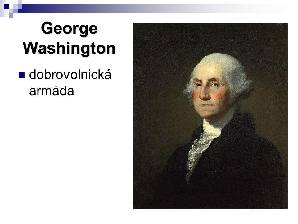 George Washington dobrovolnická armáda